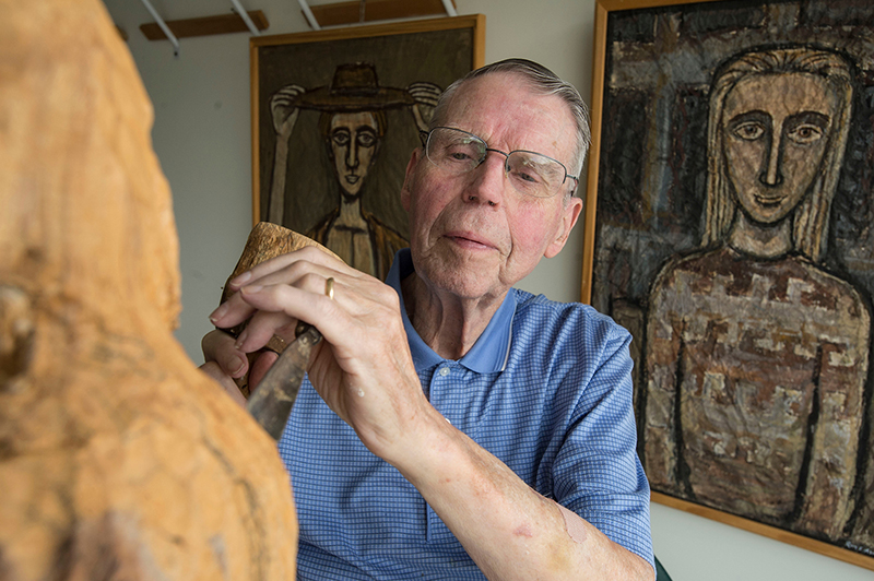Roy Abrahamson, an SIU art education professor for 31 years until his retirement in 1996.