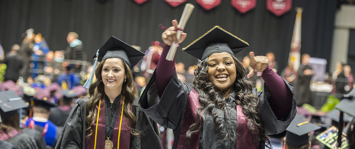 Southern Illinois University Carbondale Student Graduating